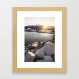 Kiss of Warmth Framed Art Print