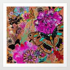 Neon Butterflies Art Print