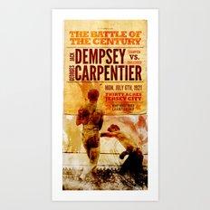 The battle of the century Art Print