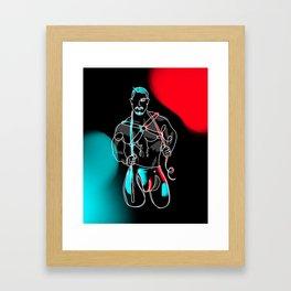 lonniedraws x skyy knox Framed Art Print