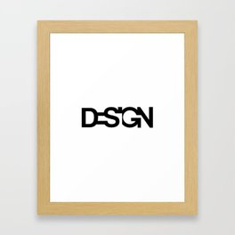 Typo Design Framed Art Print