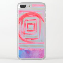Blue Pink Clear iPhone Case