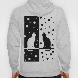 Cats,Black and White 82 Hoody