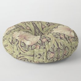 William Morris Pimpernel Art Nouveau Floral Pattern Floor Pillow