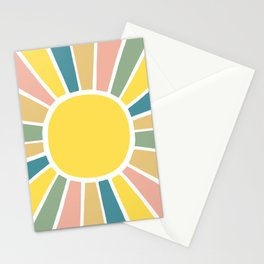 Retro Sunshine Stationery Cards