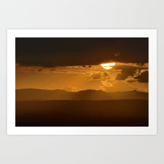 The sun after the storm Art Print