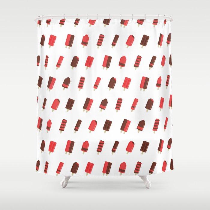 Ice Cream Stick Shower Curtain
