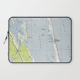 Vintage Northern Outer Banks Map (1940) Laptop Sleeve