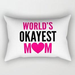WORLD'S OKAYEST MOM HEART Rectangular Pillow