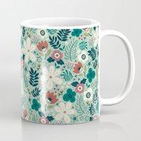 garden Mugs featuring Flower Garden by Anna Deegan