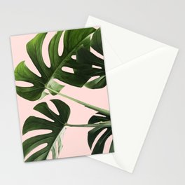 Monstera x Pink Stationery Cards
