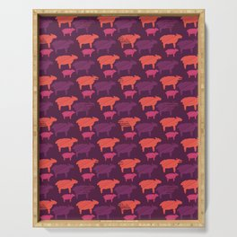 Orange Purple and Pink Colorful Baby Sheep Serving Tray