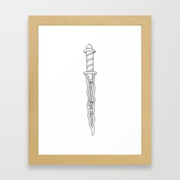 The Dark One's Dagger (v2) Framed Art Print
