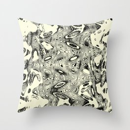 Abstract Aberrant Histological Section Throw Pillow