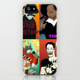 Pop mix of the some of the greats pop culture memories.  iPhone Case