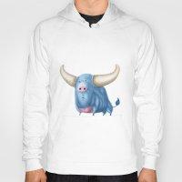 bull Hoodies featuring Bull by Kristijan D.
