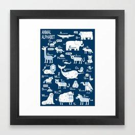 New Animal Alphabet Framed Art Print