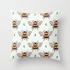 honey guards Throw Pillow