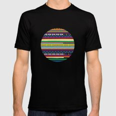Tribal Pattern MEDIUM Black Mens Fitted Tee