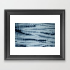 Grey Tie Die Framed Art Print