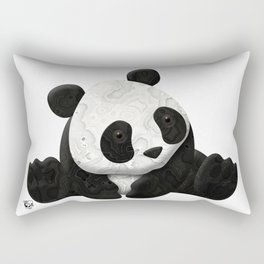 Lace Agate Panda Rectangular Pillow