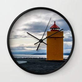 Lighthouse at the Point Wall Clock
