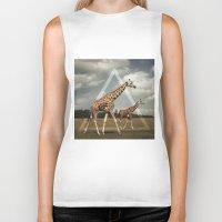 giraffes Biker Tanks featuring Giraffes by Niklas Rosenkilde