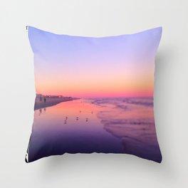 Dusk Beach in Brigantine Throw Pillow