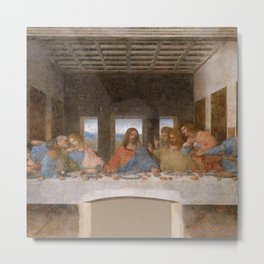 "Leonardo da Vinci ""The last supper"" Metal Print"