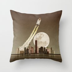 Rocket City Throw Pillow