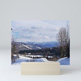 Mountain Winter Road Mini Art Print