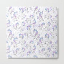 Unicorn Sparkles Metal Print