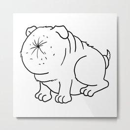 Der Arschlochhund - The Asshole Dog Metal Print