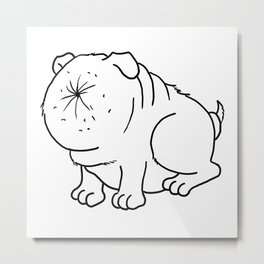 Der Arschlochhund - The Asshole Dog Metal Print