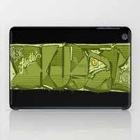 hustle iPad Cases featuring HUSTLE by clogtwo