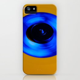 Yellow Blue Record iPhone Case