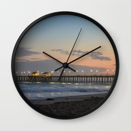 Huntington Beach Pier Wall Clock