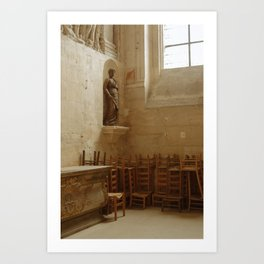 Church chairs charme Art Print
