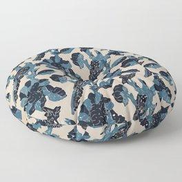Indian Blue-Resist Pastel Floor Pillow