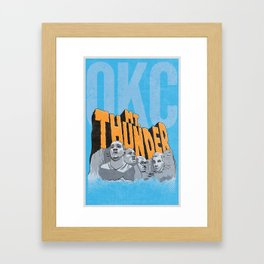Mt. Thunder! Framed Art Print