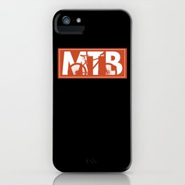 Mountain Bike MTB Mountain Biking Bike iPhone Case