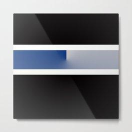 Team Colors 3....navy, blue gray Metal Print