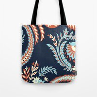 flora Tote Bags featuring Flora by Tracie Andrews