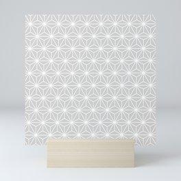 Muted Silver Isosceles Triangle Pattern Mini Art Print