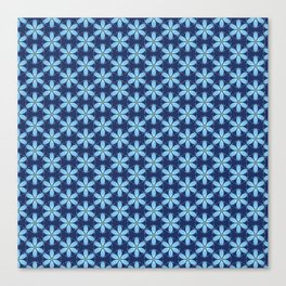 Pastel Blue Flower Canvas Print