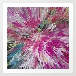 Abstract flower pattern 3 Art Print