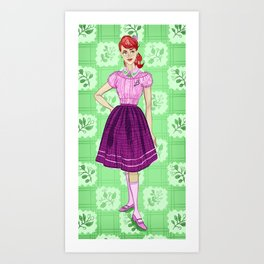 Daphne Blake from Mystery Incorporated (circa 1954) Art Print
