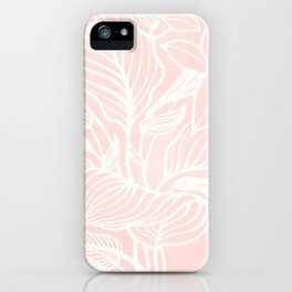 Pink Coral Floral Garden iPhone Case