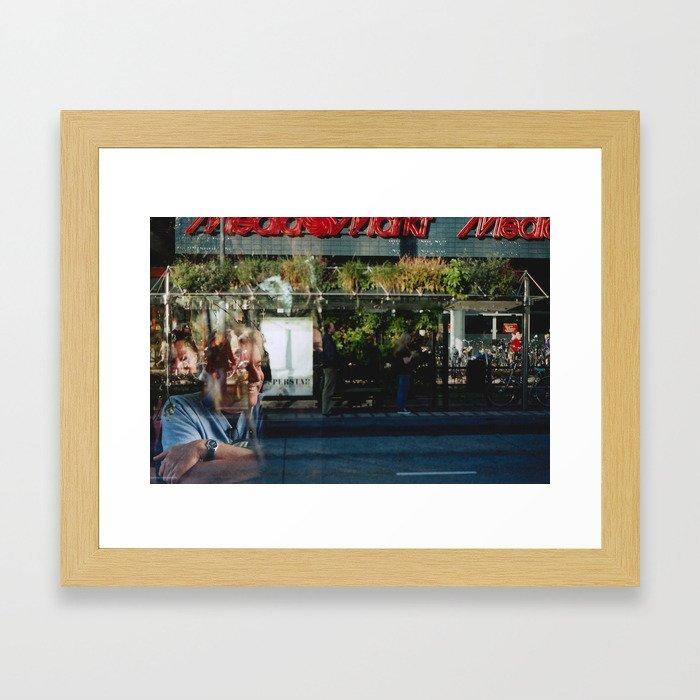Greener Busses - overlapper Framed Art Print
