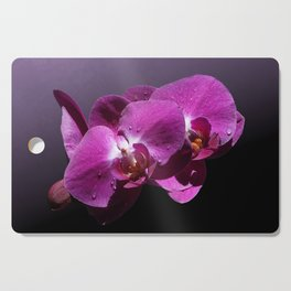 Pink Orchid Flowers Cutting Board